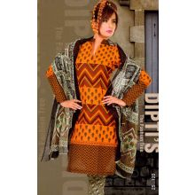 Ladies Unstitched Salwar Kameez/Churidaar Suit with Dupatta - Cotton