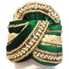 Fancy Man-Turban for Carnival, Wedding etc. | Richly Adorned with beads | Flexible Size
