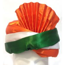 Fancy Turban in Indian national Colors | Flexible Size