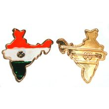 Pin with the Colors of the Indian National Flag