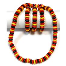 Necklace / Bracelet with Wooden Beads (GERMAN FLAG COLORS)
