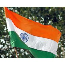 India's National Flag from polyester (48cm x 32cm)
