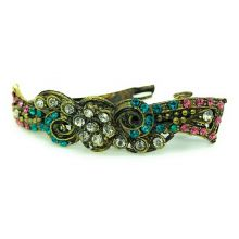 Hair Clip with colored Rhinestones