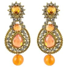 Jhumka - Fancy Earrings in Bollywood Style (Size: 6x2,5cm)
