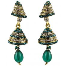 Jhumka - Fancy Earrings in Bollywood Style (Size: 6,5x2cm)