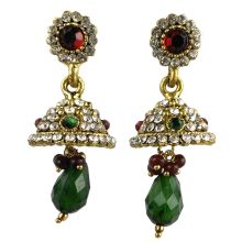 Jhumka - Fancy Earrings in Bollywood Style (Size: 5x2cm)