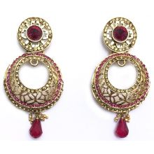 Jhumka - Fancy Earrings in Bollywood Style (Size: 7x3cm)
