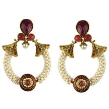 Jhumka - Fancy Earrings in Bollywood Style (Size: 7x4,5cm)