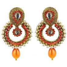 Jhumka - Fancy Earrings in Bollywood Style (Size: 6,5x4cm)