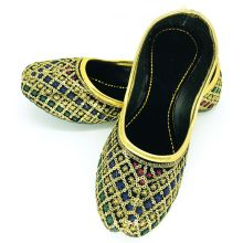 Women Handmade Khussa Slippers with sequins work