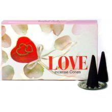 Love Incense Cones With Stand (10 Cones)