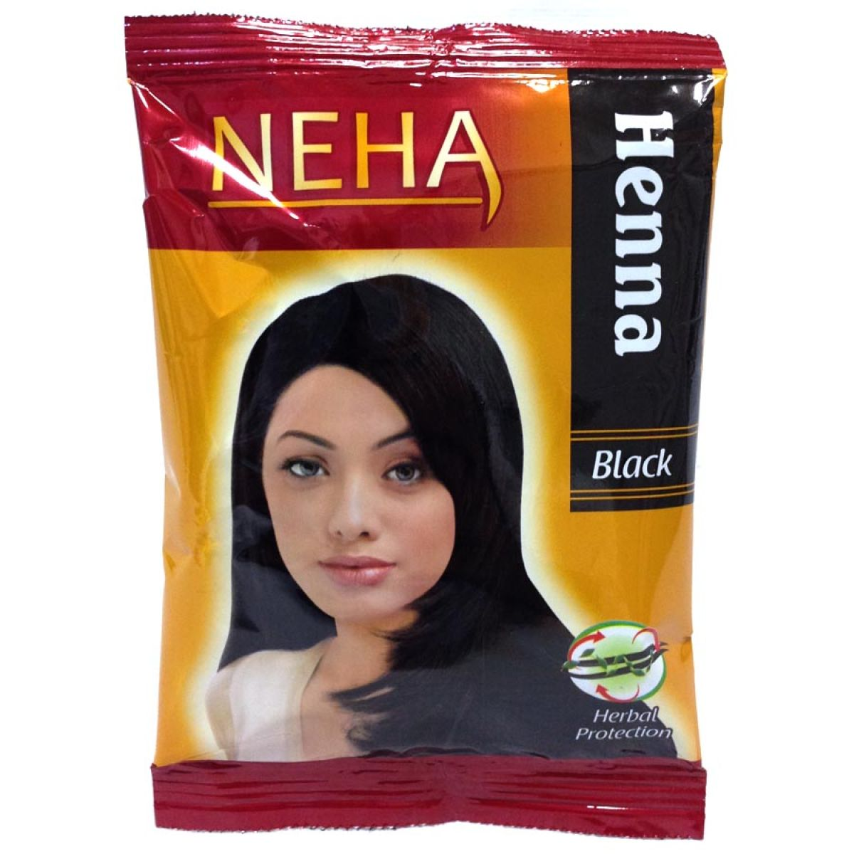 3x Neha Herbal Henna Hair Powder - Haarfärbemittel (Schwarz) 60g