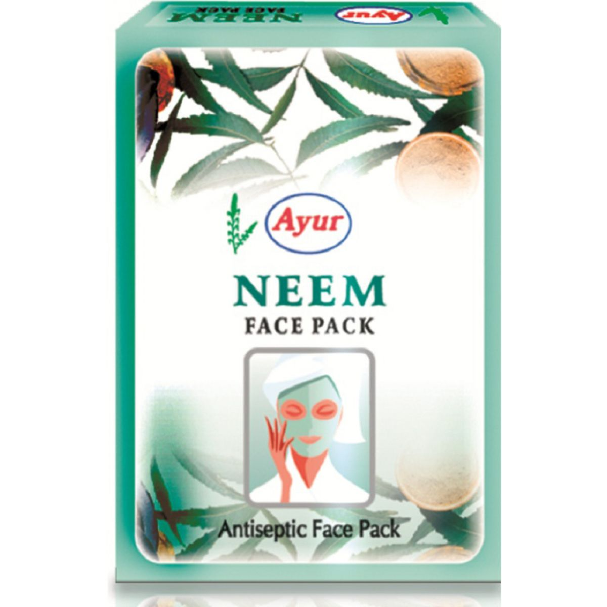 ayur herbal face pack neem antiseptic face pack. Black Bedroom Furniture Sets. Home Design Ideas