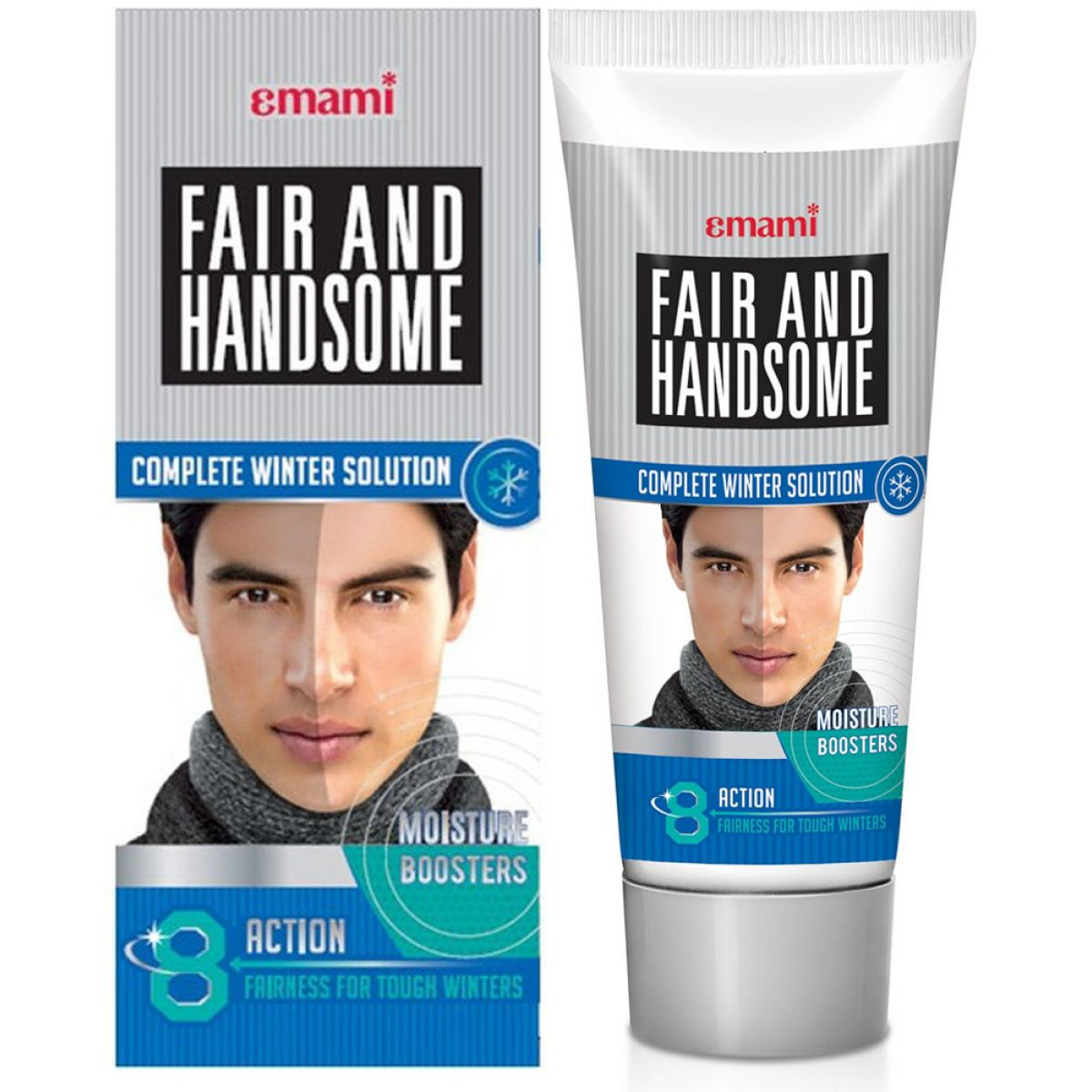 Emami Fair and Handsome Kombipack (Face Wash & Cream) 50g+15g