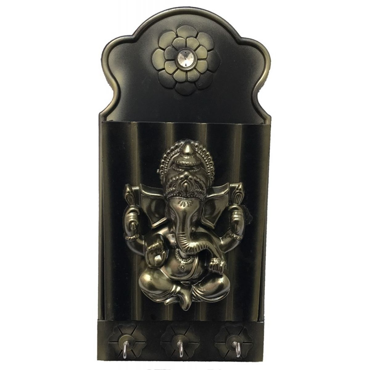 ganesha briefablage mit schl sselbrett in holzoptik. Black Bedroom Furniture Sets. Home Design Ideas