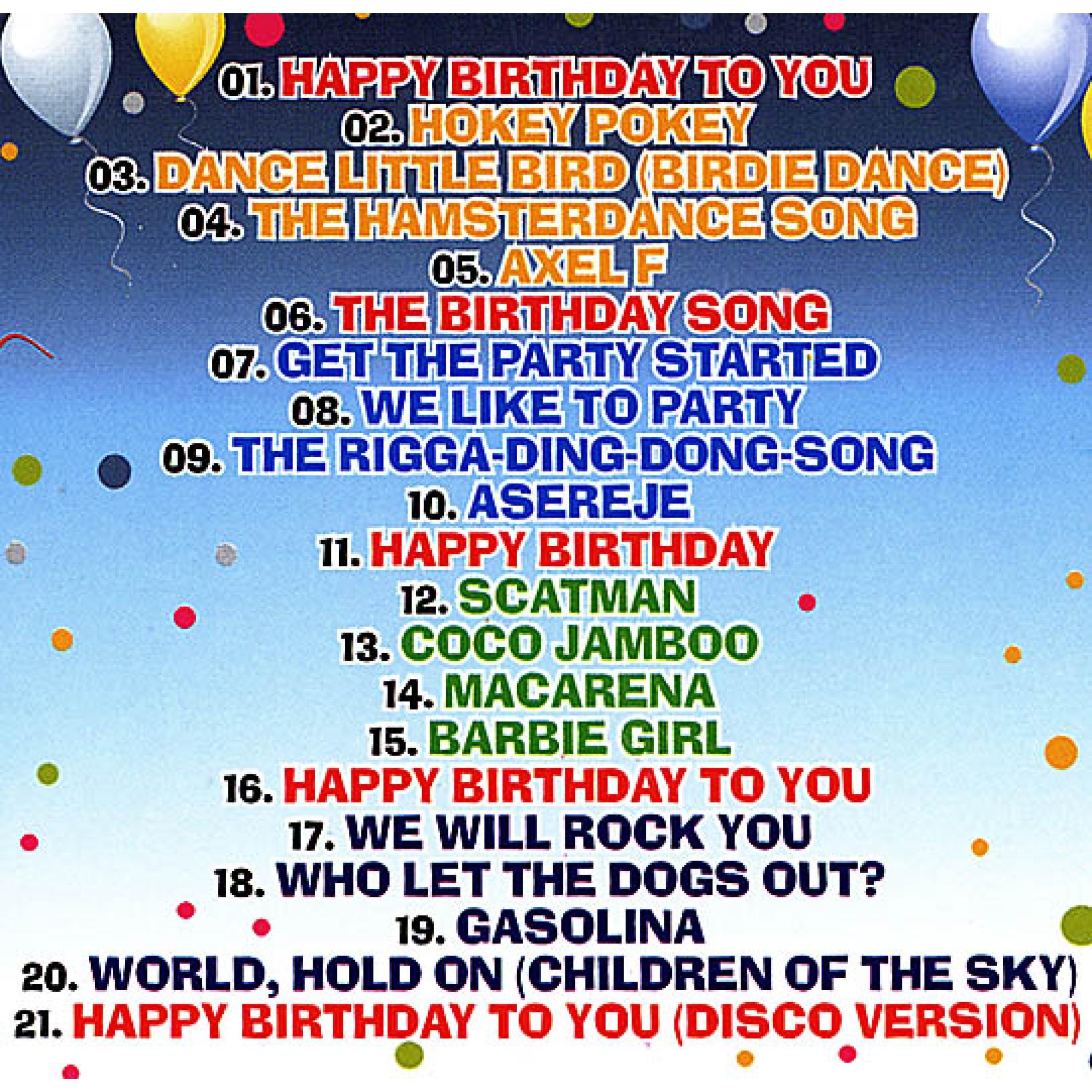 Geliebte Happy Birthday!!! Songs for a Birthday Party für kinder, Happy  QH82