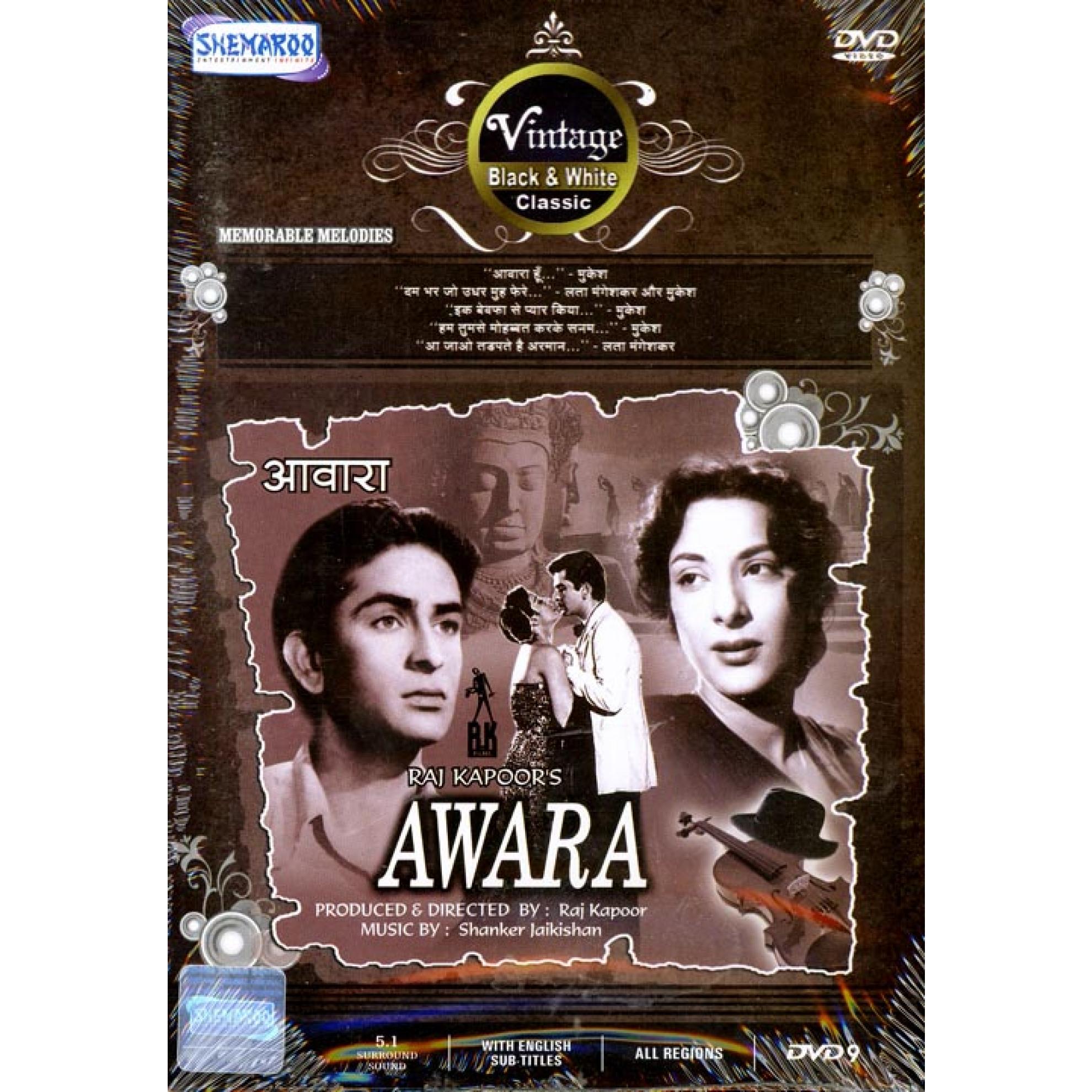 awara dvd with raj kapoor