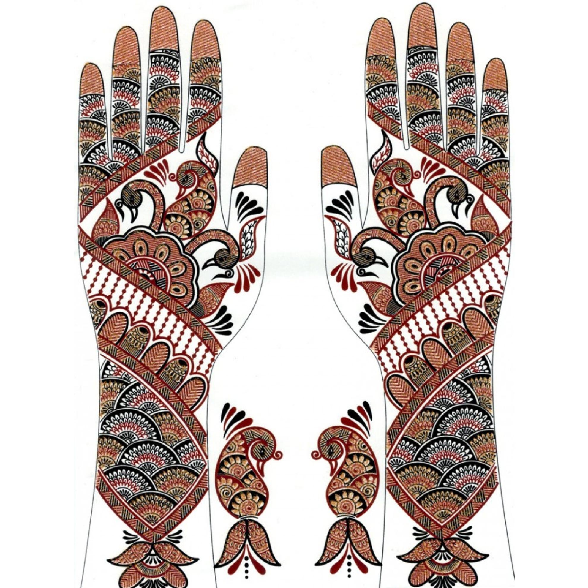 Henna Tattoo Zum Aufkleben : Henna hand leicht makedes